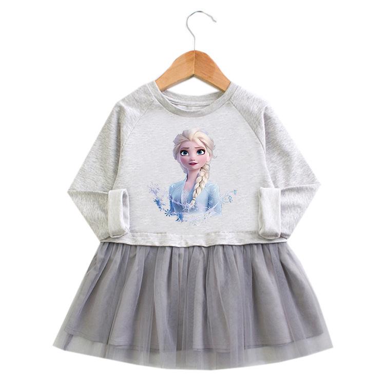 Toddler Girl Princess A-line Long-Sleeved Mesh Dress