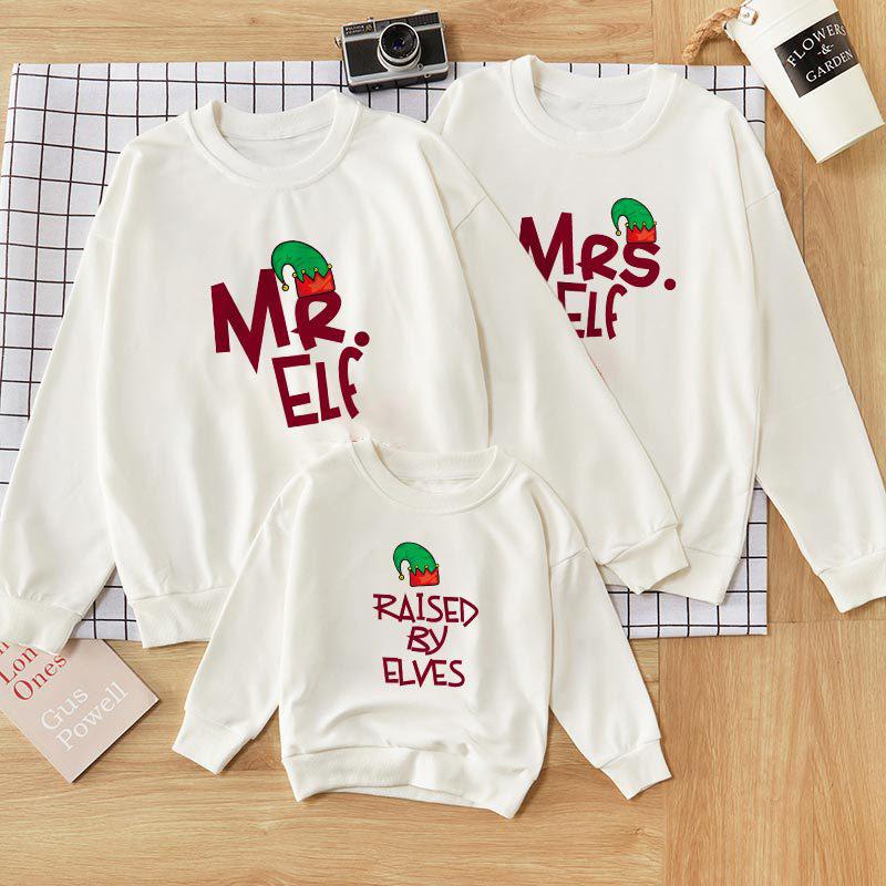 Christmas Matching Family Elf Slogans Family Sweatshirt Tops