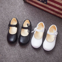 Toddler Girls PU Leather Flat Bowknot Dress Shoes
