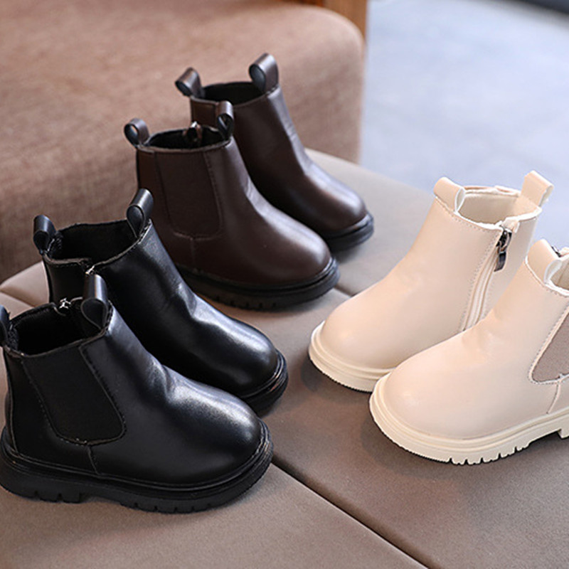 Toddler Kids PU Leather Martin Boots Shoes