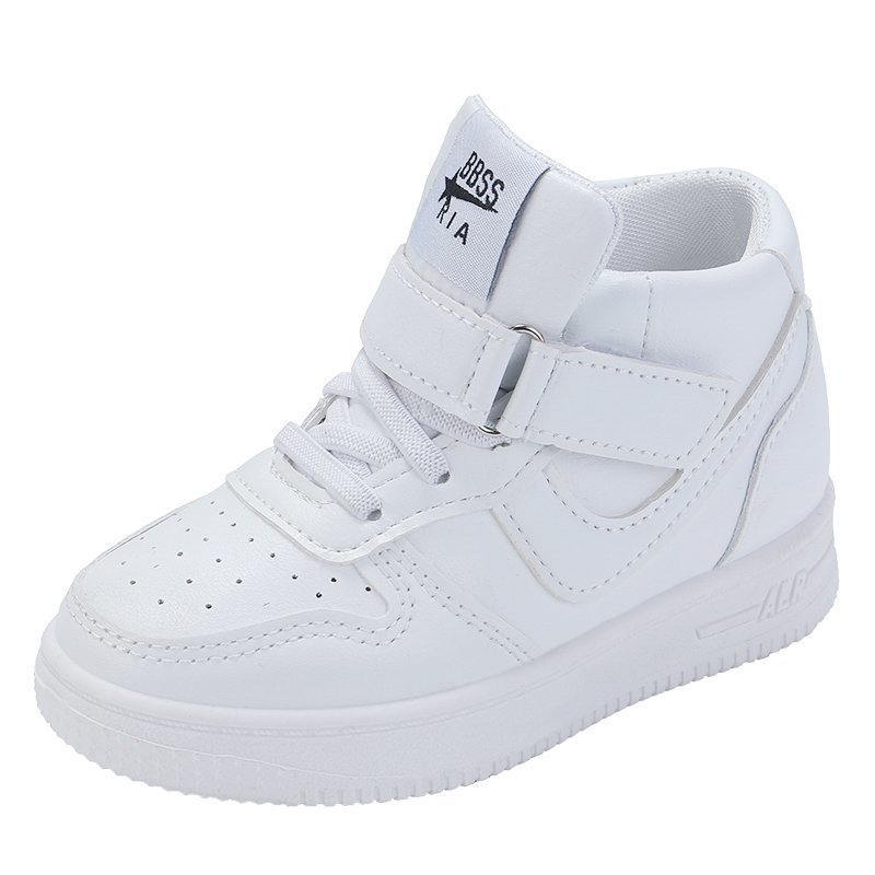 Toddler Boy and Girl White High Top Sneakers Running Shoes