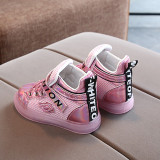 Toddler Kids Girls LED Light Bright Leather Fashion Sneakers Shoes
