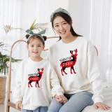 Christmas Matching Family Santa Plaids Deer Slogans Family Sweatshirt Tops