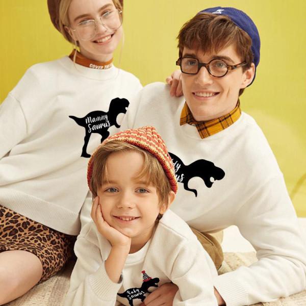 Christmas Matching Family Dinosaur Slogans Family Sweatshirt Tops