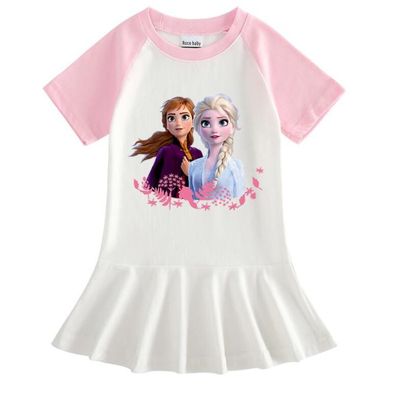 Toddler Girl Princess Aisha Short Sleeve Pleated Dress