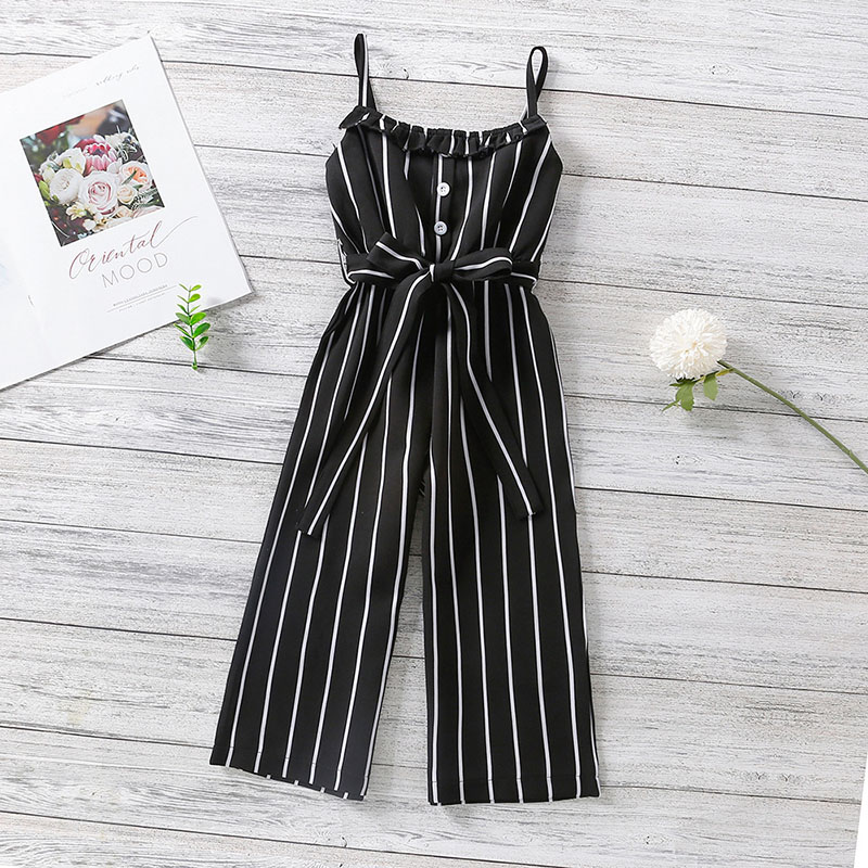 Toddler Kid Girls Stripes Slip Fashion Jumpsuit