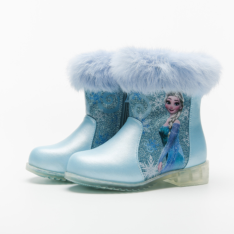 Toddler Kids Girls Frozen Winter Warm Snow Short Boots