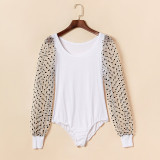 Mommy and Me Mother Daughter Mesh Dots Bodysuit