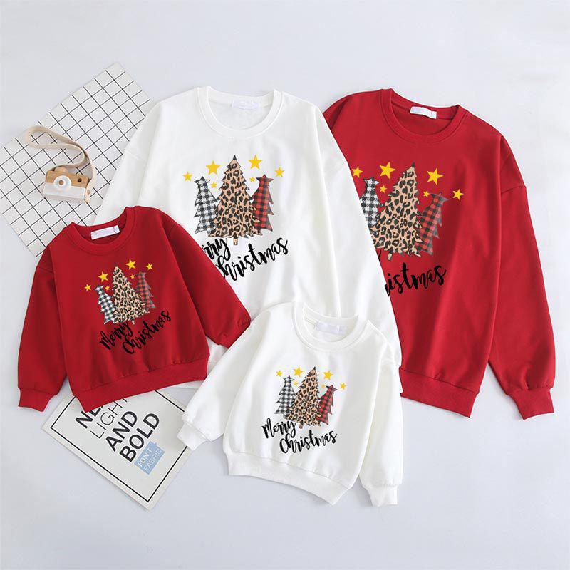 Christmas Matching Family Plaids Christmas Tree Gold Stars Christmas Sweatshirt Tops