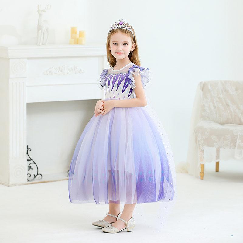 Toddler Kid Girls Frozen Elsa Princess Tutu Dress