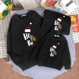 Christmas Matching Family Slogan Hohoho Christmas Hat Family Sweatshirt Tops