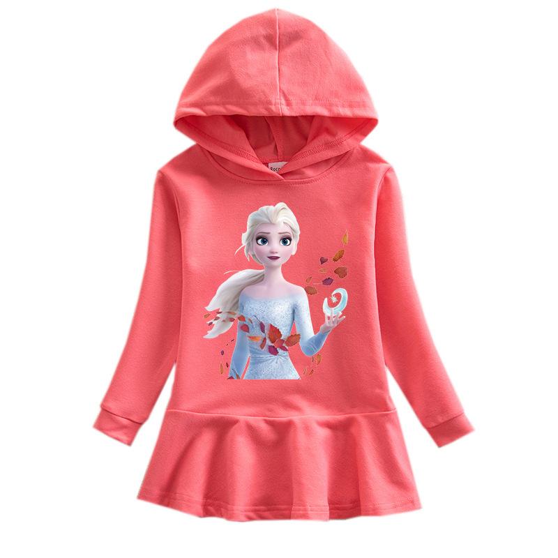 Toddler Girl Princess Hoodie Hoodie Cartoon Dress