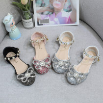 Toddler Girls Jewelry Rhinestone Bowknot Sequins Pearls Dress Sandals Shoes