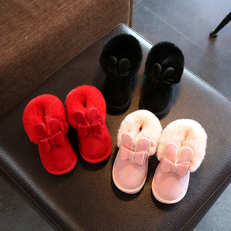 Toddler Kids Girl Suede Warm Winter Snow Boot Shoes
