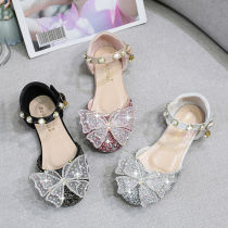 Toddler Girls Crystal Rhinestone Bowknot Pearls Dress Sandals Shoes