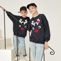 Christmas Matching Family Cute Deer Family Sweatshirt Tops