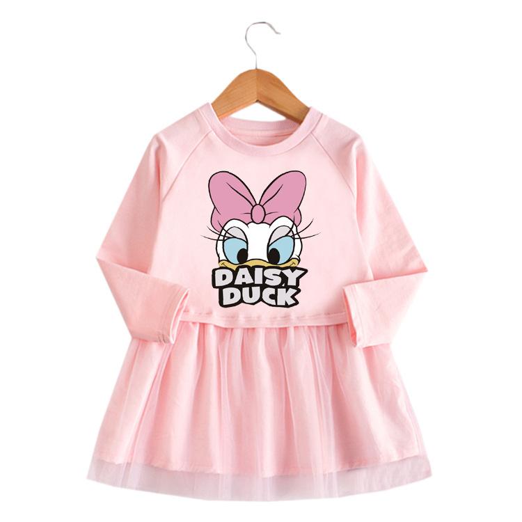 Toddler Girl Daisy Duck Princess A-line Long-Sleeved Mesh Dress