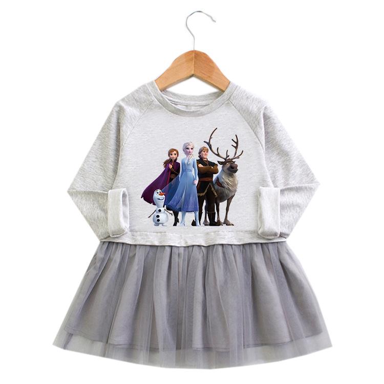 Toddler Girl Ice Princess A-line Long-Sleeved Mesh Dress