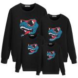 Christmas Matching Family Christmas Cool Dinosaur With Sunglasses Family Sweatshirt Tops
