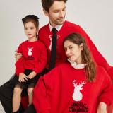 Christmas Matching Family Christmas Deer Slogan Red Family Sweatshirt Tops