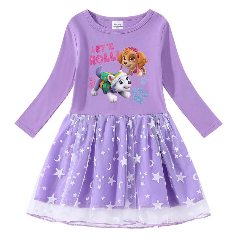 Toddler Girl PAW Long Sleeve Tutu A-line Dress