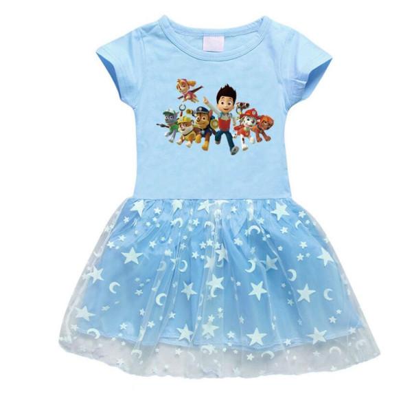 Toddler Girl PAW Patrol Mesh Lace Short Sleeve Tutu Dress