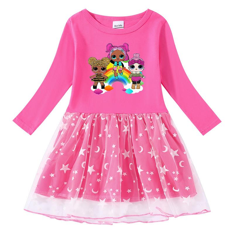 Toddler Girl Surprise Doll LOL Long Sleeve Tutu Dress