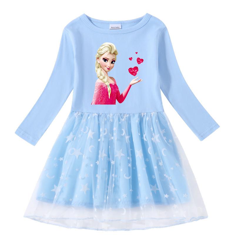 Toddler Girl Frozen Red Hearts Long Sleeve Tutu Dress