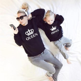Matching Family King Queen Princ Princess Crown Letters Family Sweatshirt Tops