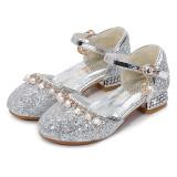 Toddler Girls Sequiens Pearls Girl Jewelry Pump Dress High Heels Shoes