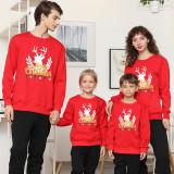 Christmas Matching Family Deer Head Merry Christmas Gift Christmas Family Sweatshirt Tops