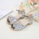 Toddler Girls Jewelry Butterfly Sequins Girl High Heel Sandals Dress Shoes