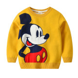 Toddler Kids Mickey Mouse Wool Warm Top Pullover Sweater