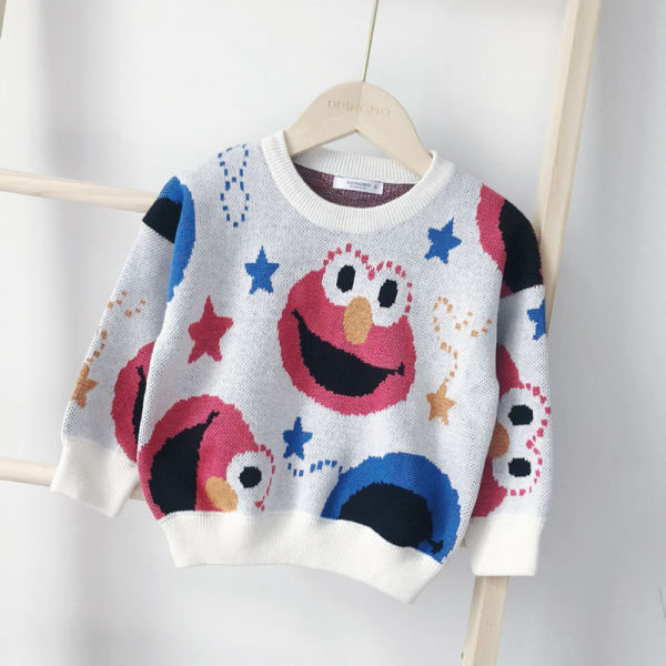 Toddler Kids Sesame Street Cotton Pullover Sweater