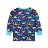 Christmas Family Matching Sleepwear Pajamas Dinosaur Plants Printing Sets