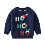 Toddler Boys HOHOHO Christmas Hat Knit Pullover Sweater