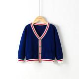Toddler Girl Knit V Neck Cardigan Sweater