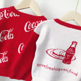 Toddler Kids Coca Cola Cotton Pullover Sweater