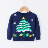 Toddler Girl Snowflake Christmas Tree Gift Sweater