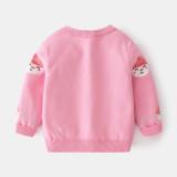 Toddler Girl Cartoon Snowman Pompom Sweater