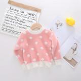 Pullover Cartoon Cute Loving Heart Children's Mink Sweater.