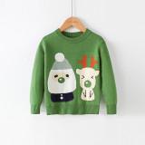 Toddler Kids Boys and Girls Chirstmas Santa Claus Deer Knit Pullover Sweater