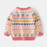 Toddler Girl Prints Strawberry Knit Pullover Sweater