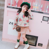 Toddler Kids Girl Watermelon Wool Pullover Sweater