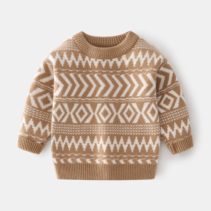 Toddler Boys Prints Stripe Knit Pullover Sweater
