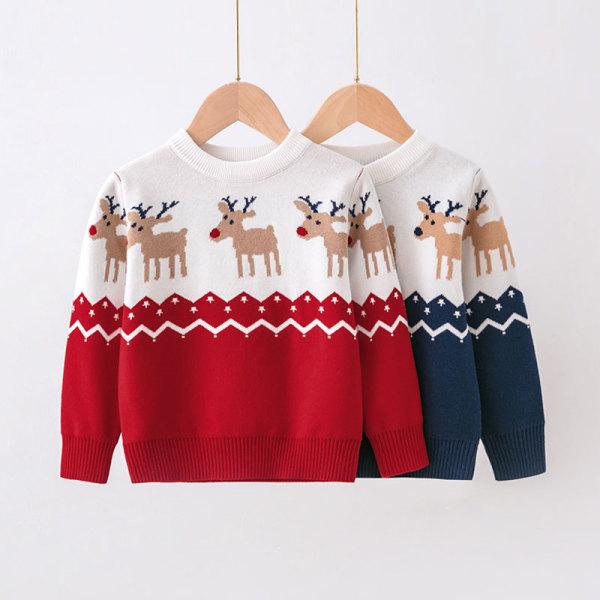 Toddler Girl Deer Knit Pullover Sweater