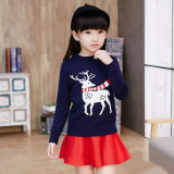 Toddler Kids Christmas Deer Wool Pullover Sweater For Boys and Girls
