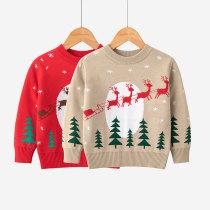 Toddler Girl Christmas Elk Tree Sweater