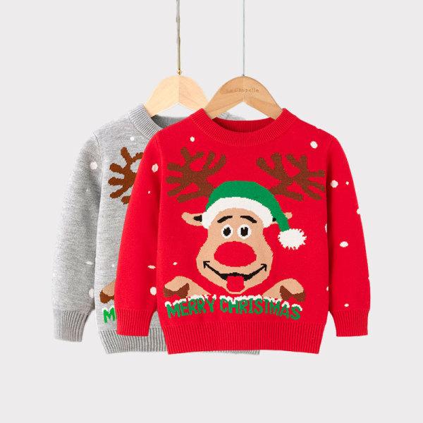 Toddler Girl Merry Christmas Deer Hat Sweater