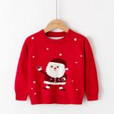 Toddler Girl Santa Claus Dots Sweater